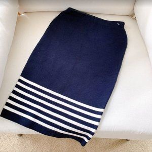 NEW Boutique Knit Pencil Striped Navy Skirt